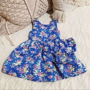 ralph lauren | blue floral dress & bloomers
